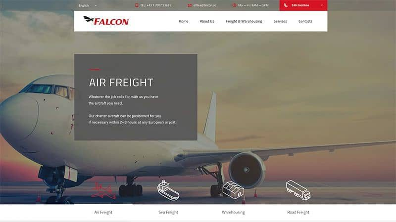 Falcon Airfreight Website